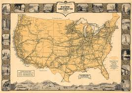 Seattle Map Store by 1930 Transcontinental Routes Of Pacific Greyhound Lines U2013 Transit