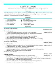 Forklift Duties Resume Team Member Resume Resume For Your Job Application