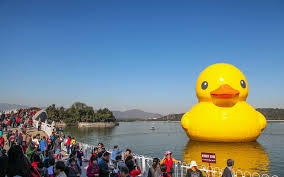 a giant rubber duck is headed to canada travel leisure