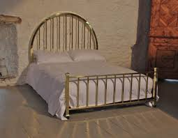 french all brass art deco style double bed 217316