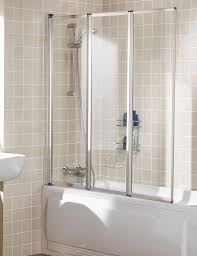 lakes classic triple panel silver framed bath screen 1390mm ss80 05