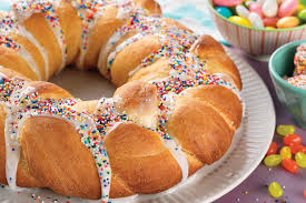 easter sweet easter bread wreath recipe king arthur flour