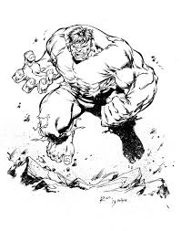 hulk inks by devgear on deviantart colouring pages pinterest