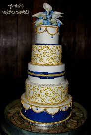 wedding cake royal blue image of gold and royal blue wedding cake royal blue and gold