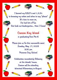 kindergarten graduation announcements kindergarten graduation invitation template sle with border