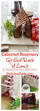 Rack Of Lamb On Grill by Cabernet Rosemary Grilled Rack Of Lamb Grilled Watermelon