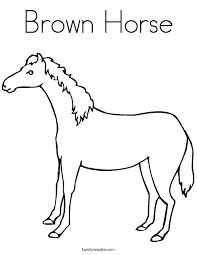 brown horse coloring twisty noodle