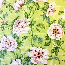 retro home decor fabriccv retro linen floral tropical garden