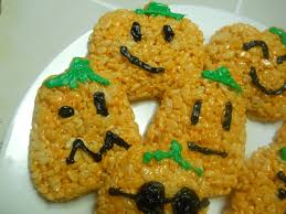 rice krispies treats pumpkins an easy allergy free halloween