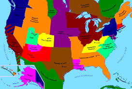 Future Map Of America by Alternate History Wikipedia