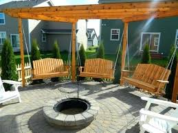 Firepit Swing Pit Unique Octagon P Justineplacecom Porch Swing