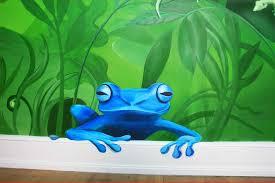 kid s rooms deepwalls frog in jungle room