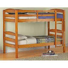 Bunk Beds Pine Mainstays Bunkbed In Pine Finish Walmart