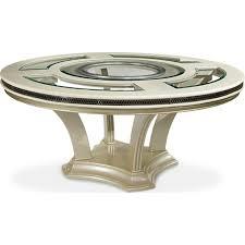 aico hollywood swank round dining table ai n03001