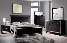 miami collection 6 black bedroom set mm800 orange