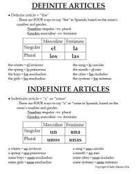 1 gender and definite u0026 indefinite articles worksheets and notes