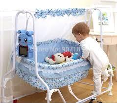Swing Crib Bedding Multifunction Automatic Electric Swing Crib Newborn Baby Cradle