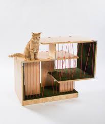 think cat condos mean beige carpet architects for animals unveils