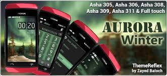 themes nokia asha 308 download aurora winter theme for nokia asha 305 asha 306 asha 308 full
