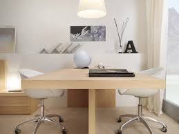 awesome modern office desk with two tone color combined wooden