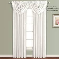 annaleigh faux silk waterfall window treatment