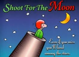 shoot for the moon gift book even if you miss you ll land among