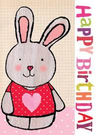 rabbit birthday rabbit birthday card scribbler cards