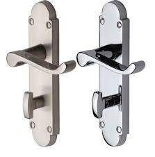 Bathroom Door Handle Lock EBay - Bathroom door knob with lock