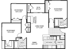 3 bedroom 2 bath floor plans 1 bedroom apts two bedroom apartments by afb