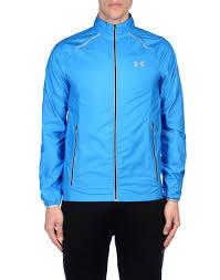 under armour ua storm launch jacket azure men coats and jackets