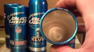 bud light aluminum bottles nfl diy bud lt cups youtube