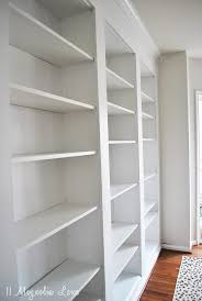 Bookcase In Wall How To Build Diy Built In Bookcases From Ikea Billy Bookshelves