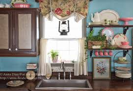 Retro Kitchen Curtains by Far Above Rubies Muslin And Lace Sink Skirt And Cafe Curtains