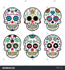 halloween background sugar skulls mexican sugar skull dia de los stock vector 193035692 shutterstock