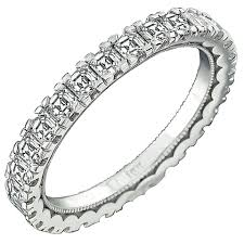 Tacori Wedding Rings by Tacori Asscher Cut Diamond Gold Eternity Wedding Band For Sale At