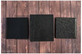 photo albums for couples volume flushmount album in black tooled leather