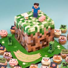 mindcraft cakes minecraft birthday cake and cupcakes crumbs doilies