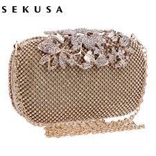 wedding bags aliexpress buy sekusa flower evening bag clutch bags