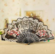 lace fans peacock lace fan new fashion daning fan bridal fans high