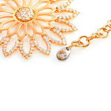 gold flower pendant necklace images Crivelli diamond gold flowers pendant necklace at 1stdibs jpeg