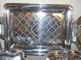 monogrammed tray table topics serving pieces salibury pewter monogrammed tray