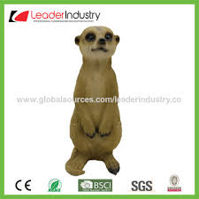 china polyresin meerkat garden ornaments customized colors and
