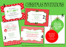 paper perfection potluck invitation