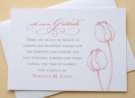 thank you for funeral flowers funeral thank you cards with 2 burgundy or 2 purple tulips