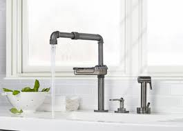 Faucet Design Industrial Style Faucets By Watermark To Give Your Plumbing The
