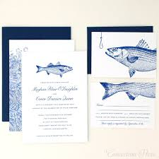 wedding invitations with pictures concertina press striped bass wedding invitations