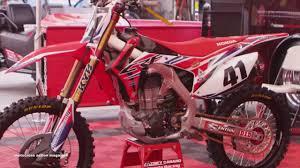 motocross action mag inside trey canard u0027s factory american honda crf450 youtube