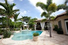 Modern Front Yard Desert Landscaping With Palm Tree And Add Tropical Charm To Your Backyard By Opting For Palm Trees