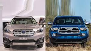 subaru toyota 2017 subaru outback vs 2016 toyota tacoma youtube