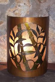 Bamboo Sconce Silhouwest Originals Metal Art By Leslie Souza Accent Lighting